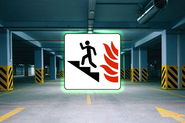 Incendio in autorimessa, scale per tutti?